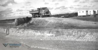 Construcción Camino Meridiano V 1965 Campamento