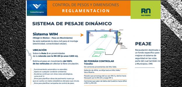 Reglamento para el control de pesos y dimensiones.